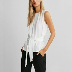 Express One Eleven Tie Front Top